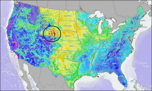 Power Company Of Wyoming Chokecherry And Sierra Madre Wind Energy - Us wind speed map