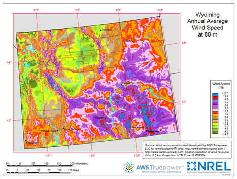 Wyoming wind map